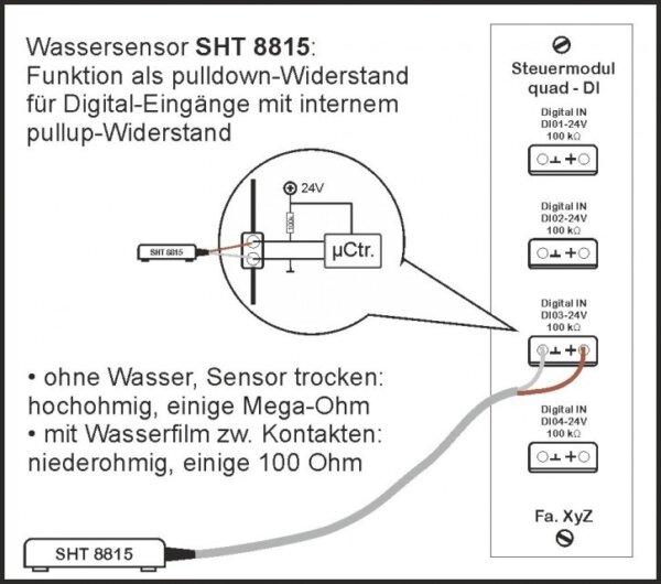Aktiver Wassersensor SHT 8815 für ext. Steuergeräte