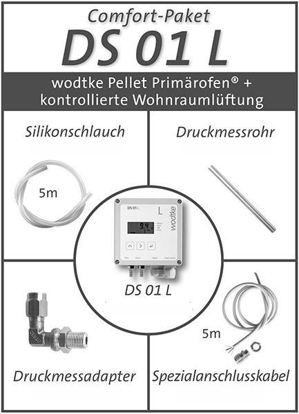 DS-01 L Comfort-Paket Lüftung + Pellet Primärofen